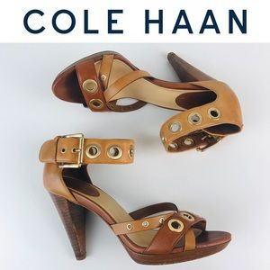Cole Haan Nike Air Platform Heels Sandals Shoes 7